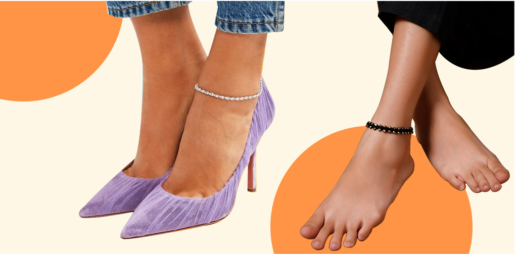 Anklets compliment every kind of attire