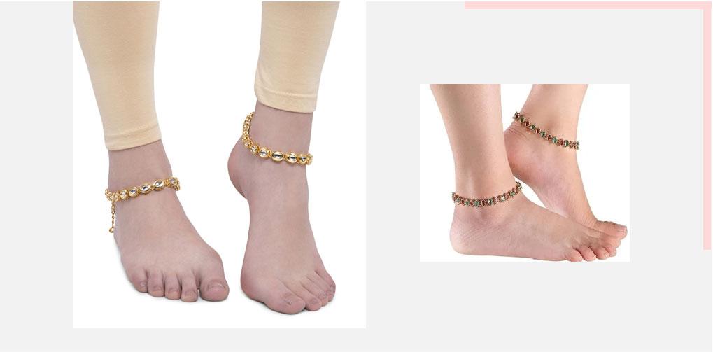 Studded anklets