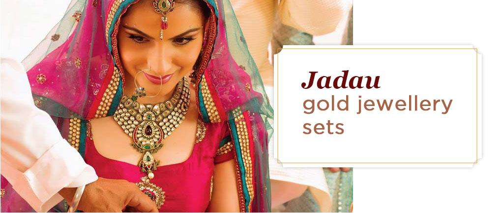 Jadau gold jewellery sets